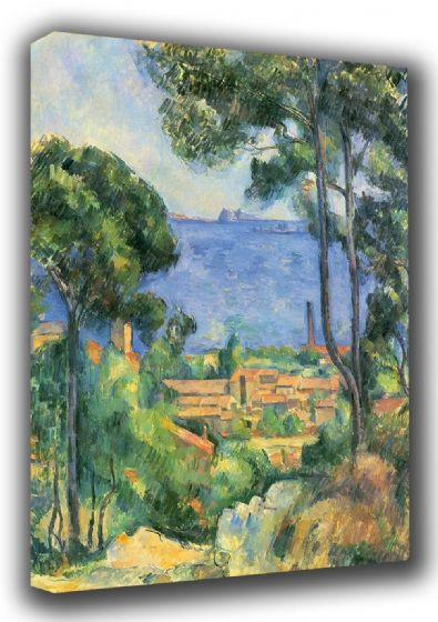 Cezanne, Paul: L'estaque. Fine Art Landscape Canvas. Sizes: A3/A2/A1 (001028)